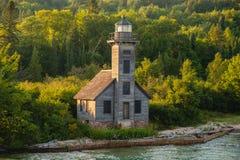 Großartiger Insel-Leuchtturm, Munising, Michigan Lizenzfreie Stockfotografie
