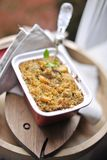 Groats dla lunchu Smakowity i zdrowy jedzenie kosmos kopii zdjęcie royalty free