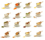 Groats and nuts Stock Image