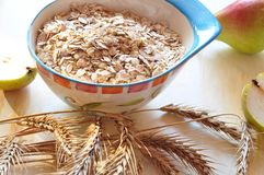 Groats of oat-flakes Stock Image