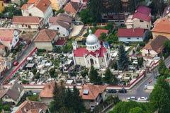 Groaveri教会鸟瞰图  库存图片