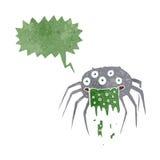 grobe Halloween-Spinne der Karikatur mit Spracheblase Stockfotos