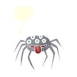 grobe Halloween-Spinne der Karikatur mit Spracheblase Lizenzfreie Stockfotos