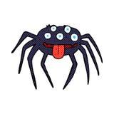 grobe Halloween-Spinne der komischen Karikatur Lizenzfreies Stockfoto