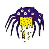 grobe Halloween-Spinne der komischen Karikatur Lizenzfreie Stockfotos