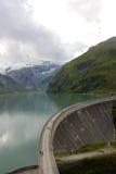 Grobelny ścienny górny jeziorny kaprun Zdjęcie Stock