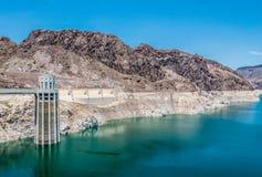 grobelny hoover jeziora dwójniak Nevada, Stany Zjednoczone Zdjęcia Royalty Free