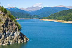 Grobelny jeziorny Vidraru, Rumunia Zdjęcia Stock