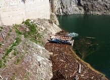 grobelny jeziorny zanieczyszczenie Fotografia Stock