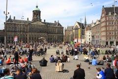 Grobelny kwadrat w centrum Amsterdam zdjęcia stock