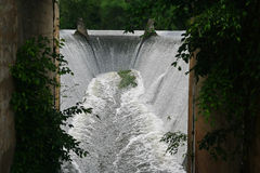 Grobelny spillway, Tajlandia obraz stock