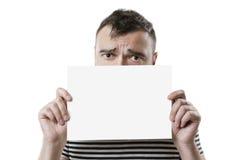Grober Geck mit Zeichen für Aufschriften lizenzfreies stockbild