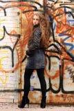 Grobes Mädchen Stockfoto