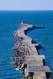 grobla niekończący się ocean Zdjęcie Stock