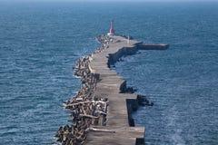 grobla niekończący się ocean Fotografia Royalty Free