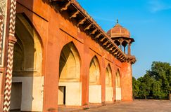 Grobowiec Akbar Wielki przy Sikandra fortem w Agra, India Zdjęcia Stock