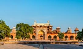 Grobowiec Akbar Wielki przy Sikandra fortem w Agra, India Fotografia Royalty Free
