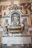 Grobowiec Galileo w bazylice Santa Croce, Florencja, Włochy Zdjęcie Stock