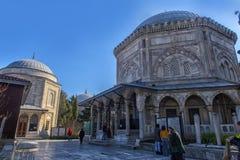 Grobowiec legendarny turecki sułtan Suleyman i jego żona Hurre Obrazy Royalty Free