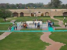 Grobowiec Mahatma Gandhi w New Delhi, India obraz royalty free