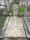 Grobowiec Mihail Sebastian, prawdziwe imię Iosif Hechter zdjęcie stock
