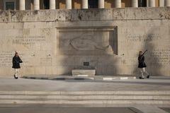 Grobowiec Niewiadomy żołnierz w Athenes Fotografia Stock