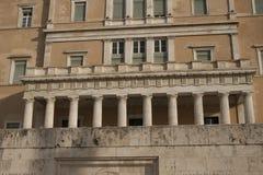 Grobowiec Niewiadomy żołnierz w Athenes Obrazy Stock