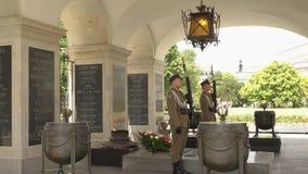 Grobowiec Niewiadomy żołnierz Warszawa zbiory wideo
