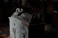 Grobowiec średniowieczny rycerz Zdjęcia Royalty Free