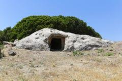 Grobowiec Sa Dom e S'Orcu Zdjęcie Royalty Free