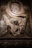 Grobowiec z Ponurą żniwiarką zdjęcia royalty free