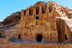 Grobowowie Petra, JORDANIA Obrazy Royalty Free