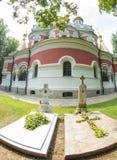 Grobowowie pierwszy opata Shipka monaster Obrazy Stock