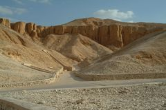 Grobowowie w dolinie królewiątka bez ludzi, Thebes, UNESCO światowego dziedzictwa miejsce, Egipt, afryka pólnocna Fotografia Royalty Free