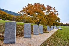 Grobowowie w Niemieckich militarnych grób Fotografia Royalty Free