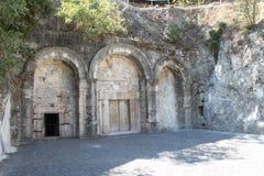 Grobowowie Zawalają się w Beit Shearim, północny Izrael obraz royalty free