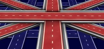 Großbritannien-Datenbahn-Markierungsfahne Lizenzfreies Stockbild