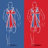 Großbritannien-Seitentrieb Stockfotografie