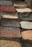 Groceries. Seeds on a nepalese market Royalty Free Stock Photography
