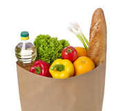 Groceries bag Royalty Free Stock Photos