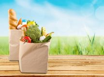 Groceries Bag Stock Image