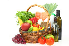 Groceries in the basket Royalty Free Stock Image