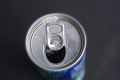 Groceries can. Photograph of groceries drink soda can Stock Image