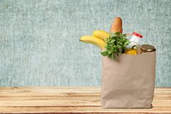 Groceries Paper Bag Stock Photography