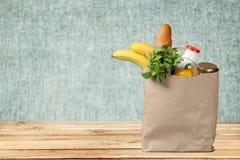 Groceries Paper Bag. Bag Food Paper Grocer Vegetable Healthy Eating stock photography