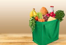 Groceries. Shopping Bag Shopping Bag reusable Recycling Green Royalty Free Stock Image