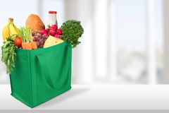 Groceries. Shopping Bag Shopping Bag reusable Recycling Green Royalty Free Stock Images