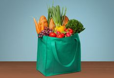Groceries. Shopping Bag Shopping Bag reusable Recycling Green Stock Images