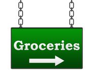 Groceries Signboard Royalty Free Stock Images