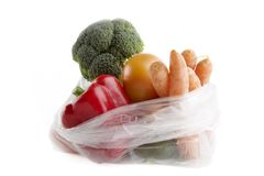 Grocery Bag Royalty Free Stock Photos